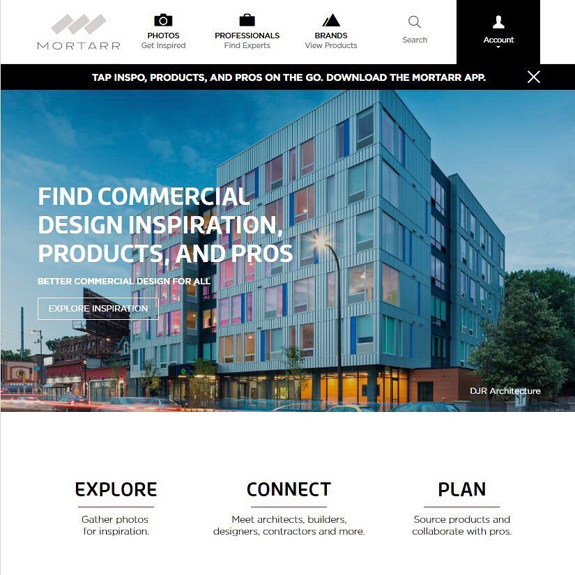 DJR is currently being featured on Mortarr's homepage! Mortarr is an imagery driven and search-based website for the commercial construction and design industry. ....#djrarchitecture #modi #modiapartments #mortarr